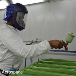 Spray painting components