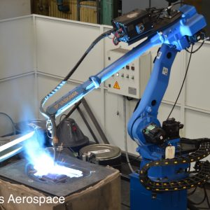 One of our latest innovations, a robotic contour welder works on a die