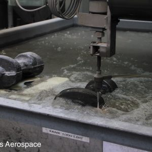 State of the art water jet cutter increases the speed at which some components can move between the forging and machining stages