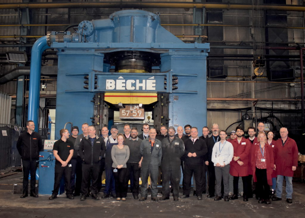 DG40 Beche, most powerful press in the uk, large forgings